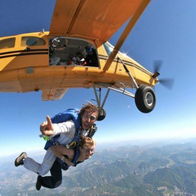 Sauter en parachute à Gap